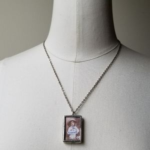 Be Yourself Silver Metal Ephemera Pendant Necklace